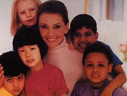 Audrey Hepburn  and Children - UNICEF