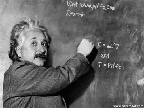 Einstein at the Blackboard!
