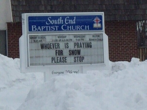 Prayer for snow !
